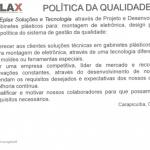 Política de qualidade Eplax